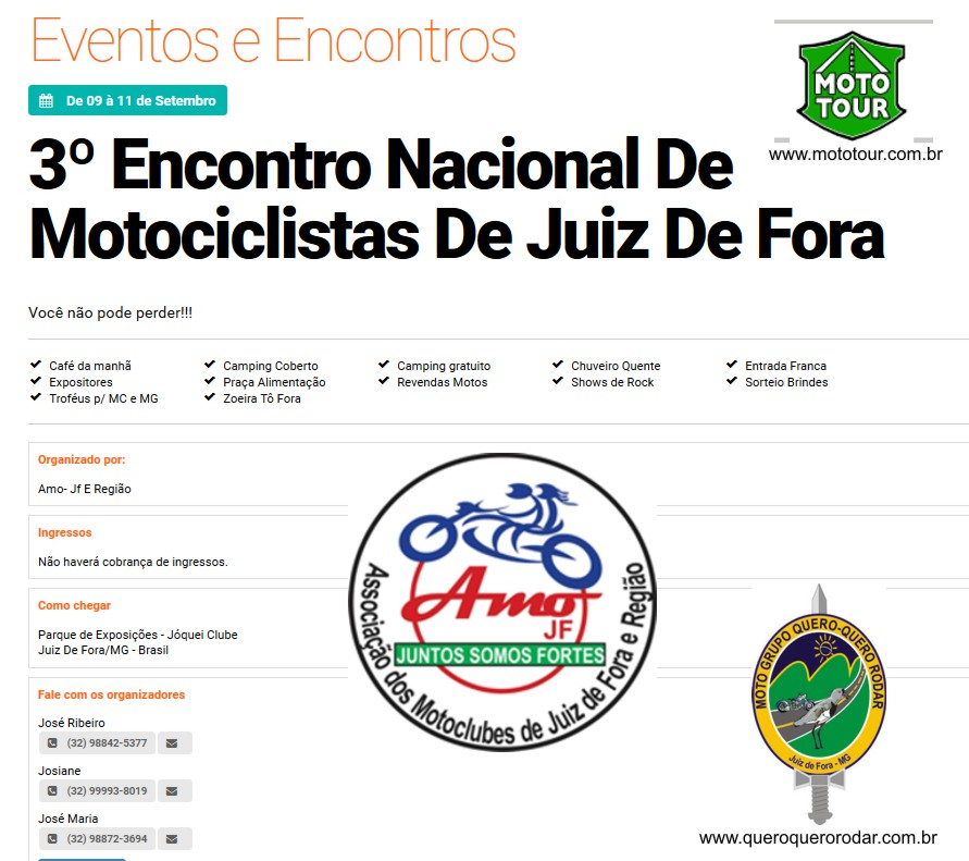 3º Encontro Nacional de Motociclista de Juiz de Fora,MG 2016